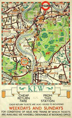 Kew Gardens area map