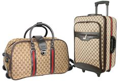 9bd036853 Mackenzie to Arista (Gucci matched luggage set, obviously the one on wheels  is bigger lol)