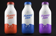 Color-Splashed Beverage Branding - Yummy Milk Packaging Introduces a Splatter of Visual Flavor (GALLERY)
