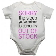 Sorry The Sleep You Ordered Is Currently Out Of Stock Girls Baby Vests Bodysuits Baby Grows