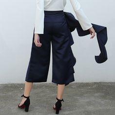 Casual Wide Leg Pants Large Sizes High Waist Women Pants d76b813a027ac