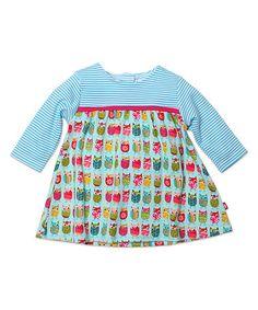 Love this Aqua & Pink Owls Dress - Infant on #zulily! #zulilyfinds