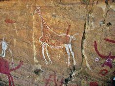 Ancient Libyan rock art in Tadrart Acacus
