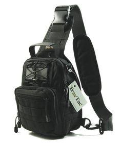 TravTac Stage II Sling Bag, Premium Small EDC Tactical Sling Pack 900D – Black - TravTac.com