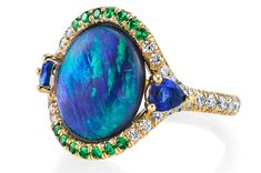 Omi Privé opal ring with tsavorite and sapphire #brittspick