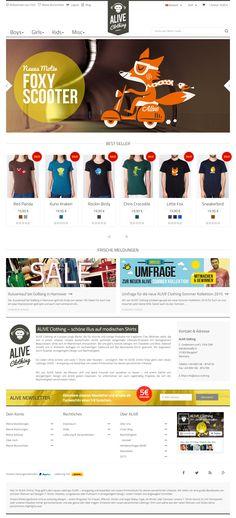 ALIVE Clothing - Responsive Online Shop auf Basis von Prestashop