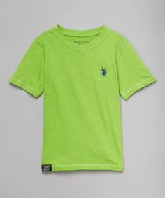 Another great find on #zulily! Summer Lime V-Neck Tee - Toddler & Boys #zulilyfinds