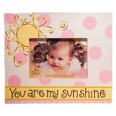 This handpainted wooden frame would be an ideal gift for a mommy who is expecting a little girl!