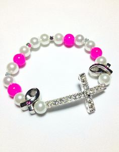 Breast Cancer Awareness Cross Bracelet. $15