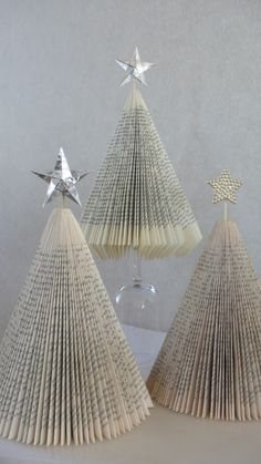 How To Make Trees (or Christmas Trees) Out Of Paperback Books
