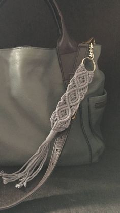 Macrame Key Chain Macrame Purse Clip by SilverMoonMacrame on Etsy