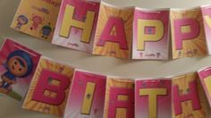 Pink Team Umizoomi banner that's great for birthday parties.