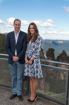 Kate Middleton and Prince William left son Prince George at home for their second day in Oz [Getty]