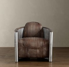 I LOVE THIS CHAIR! -- Aviator Chair:  We're already clearing some space in our living room for this Aviator chair from Restoration Hardware. Inspired by WWII fighter planes and made of aluminum and leather, it's the best way to feel like you're in a dogfight while still safe in your own home.""