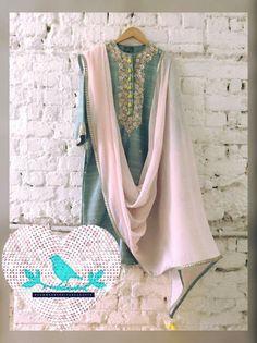Summer By Priyanka Gupta. Pakistani Fashion Casual, Pakistani Outfits, Ethnic Fashion, Bollywood Fashion, Indian Outfits, Indian Fashion, Indian Attire, Indian Ethnic Wear, Anarkali