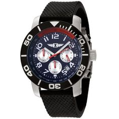 I By Invicta Men's 41701-003 Chronograph Stainless Steel Black Rubber Watch Invicta. $59.99. Chronograph functions with 60 second, 60 minute and 24 hour sub dials; date function. Water-resistant to 165 feet (50 M). Precise, high-quality Japanese-quartz movement. Blue dial with white hands and Arabic numerals; luminous; black unidirectional bezel with silver-tone numerals; tachymeter on inner bezel; red second hand and silver-tone sub dials. Durable mineral cry...