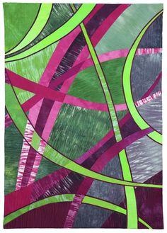Pink-Green (Rita Dijkstra, 90 x 130 cm) Quilt Modernen, Magenta, Pink And Green, Photo Galleries, Quilts, Gallery, Artists, Roof Rack, Quilt Sets