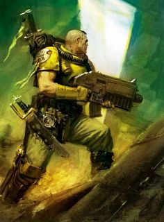 Imperial Fist Space Marine Scout. Warhammer 40K