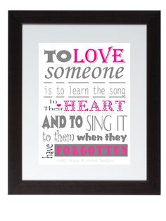 To Love Someone Inspirational wall poster 8x10 by FaithHopeNHome, $8.99