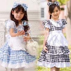 商品番号: CC0123 子供ドレス チェックエプロンドレス アリスコレクション CC0123