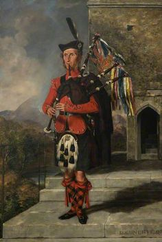 Pipe Major James Wilson, 93rd Highlanders. 1852 (Cunliffe)
