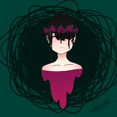 #digitalart #selfporait #art #rosecrown #hopeless