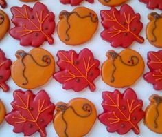 Fall Cookies Repinned By:#TheCookieCutterCompany Thanksgiving Baking, Thanksgiving Cookies, Fall Cookies, Cute Cookies, Sugar Cookies, Holiday Foods, Holiday Fun, Fall Recipes, Holiday Recipes