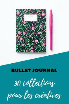 Bullet Journal : 30 collections pour les créatives - Avril sur un fil - Pint Organization Bullet Journal, Diy Organisation, Bujo, Creative Journal, Hobonichi, Journal Pages, Journal Ideas, Book Of Life, Travelers Notebook