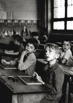 Information Scolaire, 1956 Art Print by Robert Doisneau