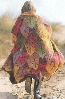 Ravelry: leafcoat by deeferdeb, via Flickr  Long Leaf Coat from Rowan 1992 pattern by Kaffe Fasset.
