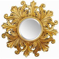 Lustro Słońce Złote 115cm