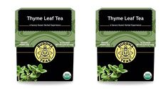 Organic Thyme Leaf Tea - Kosher, Caffeine Free, GMO-Free - 18 Bleach Free Tea Bags (2 pack) ** To view further for this item, visit the image link. (This is an affiliate link and I receive a commission for the sales)