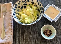 Additional toppings:   Sliced green onions, sesame seeds, shredded carrots  Make it a main dish and add grilled chicken Rice Vinegar, Low Sodium Soy Sauce, Toasted Sesame Seeds, Cabbage Salad, Shredded Carrot, Fermented Foods, Green Onions, 4 Ingredients