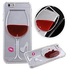 KARZEA™ Flowing Liquid Water Wine Glass Pattern TPU Back Cov... – USD $ 5.99