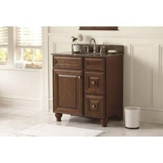 Home Decorators Collection Annakin 36 In Vanity Cabinet Only In Cognac Clsd3621 Cg At The Home