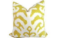 Custom Yellow Ikat Sham