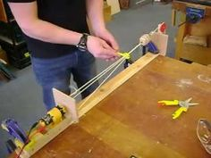 A short video showing the MIY rope maker in action. Made from some scrap meccano gears and a motor, plus a few odds and ends. It works quite well, and on a v. Rope Making, How To Make Rope, Survival Prepping, Basket Weaving, Home Projects, Sailor, Gears, Eco Friendly, Scrap