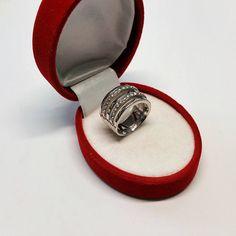 165 mm Silberring Kristallsteine Glitzer Silber 925 edel
