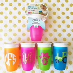 Personalized monogram baby sippy cup shower gift baby gift https://www.etsy.com/listing/264492543/toddler-baby-sippy-cup-monogram-initials