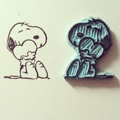 Sello snoopy lover stamp