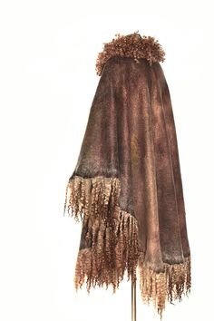 Nuno Felted poncho Unique Fur Free Ahimsa Long by FeltedPleasure, $849.00