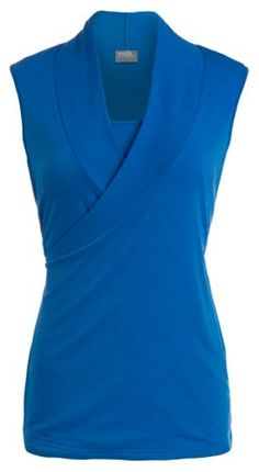 Milk Nursingwear Womens Sleeveless Crossover Nursing TopLBlue -- Visit the image link more details. Note:It is affiliate link to Amazon.