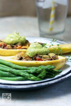 Stuffed Summer Squash - Vegetarian & Vegan Recipes http://veggiefocus.com