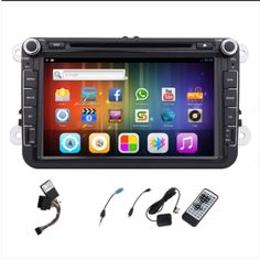 Double DIN Car Stereo Radio Audio Android 5.1 Head Unit GPS Navigation For VW Volkswagen Jetta Golf 7 Skoda Passat with CANBUS car dvd player Capacitive Touch Screen Autoradio WIFI GPS USB SD Aux-In Remote control Car Accessories