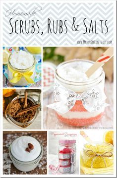 These salt scrubs and bath salts are so easy to make.