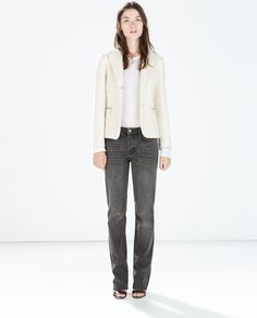 Image 1 of BOUCLE BLAZER WITH ZIPS from Zara