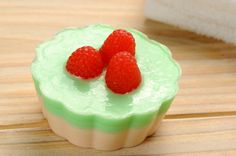 Christmas raspberry cake soap holiday gift by latikasoap on Etsy, $15.00