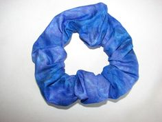 Blue PURPLE Fabric handmade Hair Scrunchie by coloradocntry