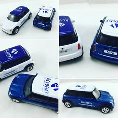 Promotional Mini Cooper Cars we produced for Academy Leasing. White/Blue printed to the roof and sides of cars. We've years of experience in giving promotional Items the extra design clout they need to do their jobs. We'll ensure the information we place on your promotional Mini Cooper Cars is the perfect match for your brand. Please Like, Share & Comment.