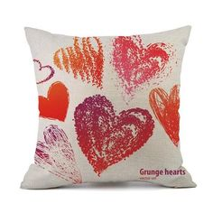 Valentines Day Pillow Cases Linen Sofa Cushion Cover Home Decor Pillow Case - Argos Sales